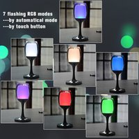 Wholesale Led Bar Table White - Indoor Acrylic Warm White RGB Colorful LED Desk Reading Lighting Table Lamp with Wine Cup Shape Festival Bar Party Christmas Night Light