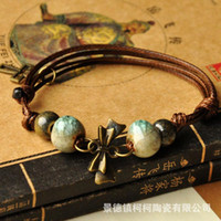 Wholesale Beaded Books - Hand Book Pearl Ethnic Characteristics Manual Ceramics Bracelet Jindezhen Jewelry