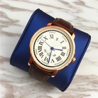 Wholesale Free Auto Price - Top Brand Women watches Auto Calendar Men Wristwatch Genuine leather Men watch Lady Quartz wholesale price High-grade Unisex watch Free box