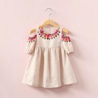 blusa lolita falda al por mayor-Camisa de blusa de algodón sin tirantes de las muchachas de la manga corta niños faldas niños outwear de la manera ropa del bebé