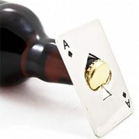 kawaii flaschenöffner großhandel-Neue Stilvolle Heiße Verkauf 1 stück Poker Spielkarte Pikass Bar Tool Soda Bier Flaschenöffner Geschenk