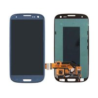 Wholesale Galaxy S3 Full Panel - For Samsung Galaxy S3 i9300 i9305 i747 i535 LCD Display Touch Digitizer Complete Screen Panels Full Assembly With Frame