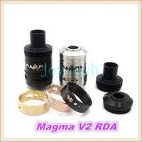 Wholesale Ecigarette Rings - Magma v2 Reborn RDA Clone Kit 22mm Rebuildable Magma V2 RDA Dripping Atomizer Dual Post DIY Ecigarette vapor tank with Extra 3 AFC Rings
