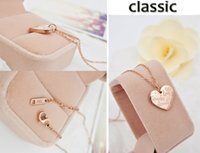 Wholesale Lovely Bear Stainless Steel - Factory direct wholesale bear series of lovely peach titanium 14K rose gold necklace