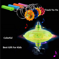 Wholesale Spin Top Magnetic - New Arrival Magic LED gyroscope flash toys stall selling magnetic spinning top track yo-yo good toy for kids
