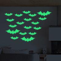 Glow Dark Wall Murals   Halloween Bats Wall Decals Fluorescence Stickers  Glow In The Dark Living
