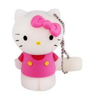 Wholesale Usb Flash Drive 32 - 100% New Standing Hello Kitty 8 16 32 64GB USB Flash Drive Memory Stick Pen Drive
