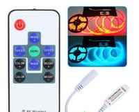 беспроводной пульт дистанционного управления диммер переключатель оптовых-R108 РФ беспроводной RGB пульт дистанционного управления мини светодиодный диммер контроллер 12 В 24 в 12A 216 Вт для SMD 5050 светодиодные гибкие полосы света лампы 100 шт./лот