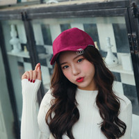 Wholesale Brim Iron - 2017 Fashion Unisex Suede Iron Ring Baseball Cap Curved Brim Hip Hop Caps Snapback Hat Sun Protection Hats For Men And Women