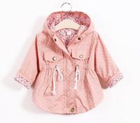 Wholesale New Korean Version - Spring Autumn girls Jackets New 2016 Korean version Brand Fashion Polka Dot Bat shirt Coat 5pcs lot Children Hoodies 4COLOR FREE FEDEX SHIP