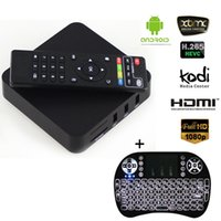 Wholesale Mini Wirless Keyboard - Fully Loaded MXQ 4K TV Box Android 6.0 1GB 8GB with Rii Mini I8 Wirless Keyboard Air Mouse for Rockchip TV Boxes