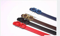 Wholesale Mens Designer Genuine Leather Belts - Sponge mice Hot new designer belts men high quality big buckle Fashion belt metal buckle genuine leather f belt male strap mens belts luxury