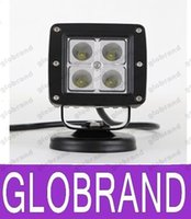 Wholesale 16w Led Bars - 3.3 Inch 16W Work Lamps Off Road LED Light Bar Cree LED Spot ATV Light Driving Lamps Fit SUV JEEP Truck Tractor Include Bracket GLO450