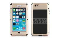 Wholesale Metal 4s Phone Cases - Brand Waterproof Dropproof Dirtproof Shockproof Phone Case for iPhone 4 4s 5 5s 5c 6 6s 4.7 plus Back Metal Cover