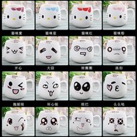 Wholesale China Container Shipping - Wholesale- Creative Ceramic Cups Cute Cartoon Face Expression Water Container Lovers Coffee Mugs Travel Free Shipping