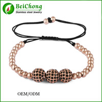 Wholesale Macrame Bracelet Pave Beads - BC Anil Arjandas Braiding Macrame Brand Fashion Charm Bracelets Four Color Micro Pave CZ beads Classic Bracelets For Men Women BC-241