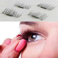 Wholesale makeup tools accessories - 3D Magnetic False Eyelashes Natural Soft Makeup Beauty eyelash extension Tools Accessories Pair Hot Sale