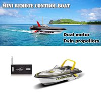Wholesale Controller For Rc Cars - RC Mini Racing Speed Boat Rechargeble Type Fantastic Remote Control Boat for Kids Gifts Wholesale 4 Color