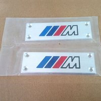 Wholesale Bmw Floor - Styling M Logo Car Floor Mat Badge Auto Carpet Emblem for BMW X3 X5 X6 3 5 7 Series F30 F10 E46 E90