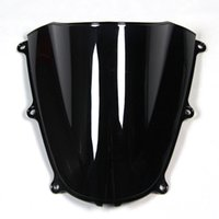 Wholesale Clear Windshield - Injection ABS Double Bubble Blue Black Clear Windshield For Honda CBR600RR F5 Year 2005 2006 Motorcycle Windscreen