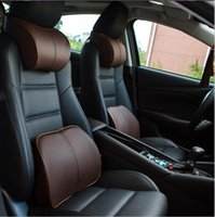 Wholesale Mercedes Benz Si - Mercedes Benz Style Relaxing 3D Memory Foam Car Neck Pillow + Waist support cushion Honda Accord Civic CRV HR-V Odyssey Si Fit Pilot shadow