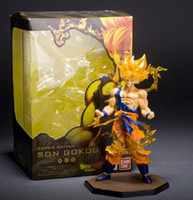 Wholesale Dragonball Z Trunks - New Dragonball Z Dragon Ball DBZ Anime Son Goku Vegeta Trunks super saiyan 15 cm Action Figure Toys original box dragonballz