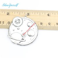 Wholesale machine for jewelry - 3pcs lot Antique Silver Plated Timer Machine Charms Pendants for Necklace Jewelry Making DIY Handmade Craft 36X40mm
