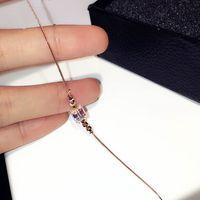 Wholesale Simple Elegant Gold Bangle - New Simple Fine Crystal Bracelet Women Fashion Gold Plated Jewelry Bijoux Elegant Charm Bracelets & Bangles Gifts