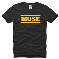 Wholesale Men S Fashion Shirts - 2016 New Rock Band MUSE T Shirts Men Cotton Letter Printed Short Sleeve O-Neck Man T-shirt Fashion Summer Style Male Hip hop Tops Tees S-3XL