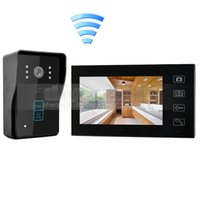 Wholesale Wireless Home Intercom Doorbell System - Wireless 7 Inch Video Door Phone Video Intercom Doorbell Touch Camera with RFID Reader for Home Security System