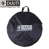 Compra Singolo Vettore-DUUTI Bicycle Cycling Wheel Carrier Bags 75cm Diameter Waterproof Bike Carrying Borse Road Mountain Single Wheel Carrier Package