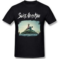 Wholesale army posters - Men's Swiss Army Man Upcoming Film Poster T Shirt Black