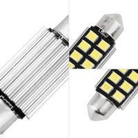 Bombillas Led Festoon Libres De Error Baratos-36mm White Dome Festoon CANBUS Errores coche libre 8 LED c5w llevó lámpara de la lámpara 12V llevó la luz interior