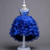 robe d'enfant tutu achat en gros de-2017 enfants couches couches robes de princesse enfants vêtements de fête bébé filles haute qualité vêtements enfant robe de bal robe pour 100-170 cm