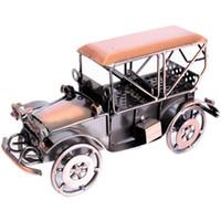 ingrosso giocattoli auto fatti a mano-Metallo Antique Vintage Car Model Home Decor Decorazione Ornamenti Handmade Handcrafted Collezioni Giocattoli da collezione