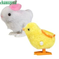 Wholesale Old Toy Easter Bunny - Wholesale- CHAMSGEND Best seller drop ship New Infant Child toys Hopping Wind Up Easter Chick and Bunny S25