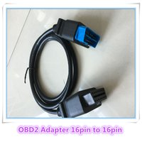 Wholesale Volvo Pin Connector - 2017 high quality OBDII Adapter 16 pin male to 16pin female cable Extension OBD II OBD2 16 pin Connector 16pin to 16pin