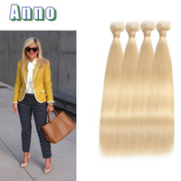 ANNO Virgin Hair Grade 7a Russian Blonde Virgin Hair Bundle Deals Blonde Malai Straight Hair Weave 4pcs 613 Extensions
