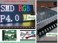 Wholesale DIY indoor LED video display P4 indoor Full Color Led Module mm RGB led controller pc power supply