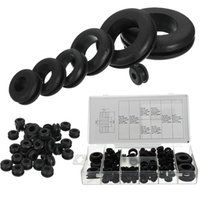 Wholesale gaskets kit - 180pc Rubber Grommets Retaining Ring Set Blanking Hole Wiring Cable Gasket Kits Hardware Tools