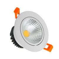 ingrosso lenti a soffitto-Faretto a LED COB dimmerabile 21W 18W 15W 12W 9W Illuminazione a LED AC 110 V 220 V Lente in vetro smerigliato Incasso Lampada da soffitto Illuminazione interna