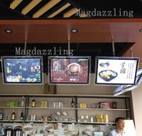 Wholesale restaurant menu boards - Wholesale- A2 Restaurant Indoor Acrylic Frame LED Menu Boards,Slim LED Menu Light Box with Black Border