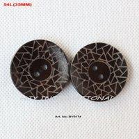 Wholesale Hat Parts - (60pcs lot) large wooden buttons bulk for garment accessories hat bag parts 35mm-BY0174