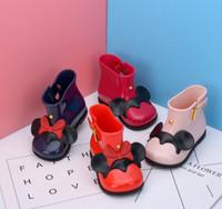 botas de lluvia zapatos de lluvia al por mayor-Botas de lluvia para niñas nuevas Zapatillas de lluvia para niños impermeables Botas para niñas con arco Jelly para niños Zapatillas de lluvia para niñas Zapatos de PVC