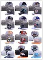 Wholesale Embroidered Football - Cheap 2017 newest style fashion Cotton Men Baseball Cap All Football Team Snapback Outdoor Sports Basketball Hats Mix Order free shipping