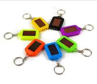Wholesale Key Chain Portable Solar - Mini green lighting led solar key chain pendant LED flashlight sunlight charge Convenient to hang