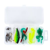 Wholesale bionic lures set for sale - Group buy 15pcs set Universal road Asia Bait Suit common use Freshwater and Sea Colorful Lure Bionic Bait Suit g