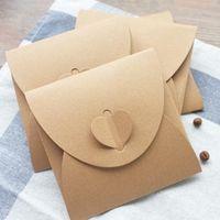 Wholesale Paper Envelope Sleeves - Free Shipping 40Pcs 13X 13Cm Disc Cd Sleeve 250Gsm Kraft Cd Dvd Paper Bag Cover Cd Packaging Envelopes Pack Wedding Party Favor