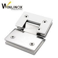 Wholesale Shower Clamps Hinges - SS304 stainless steel 90 degree shower hinge glass door clamp