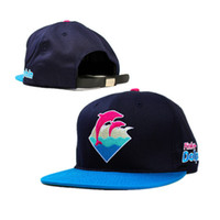 Wholesale Cheap Cadet Hats - 2014 new 1 pcs pink dolphin baseball strapback hats and caps for men adjustable cotton cadet summer sun hat flat brim cap cheap
